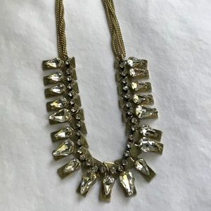 Kenneth Cole statement necklace stones set in gold